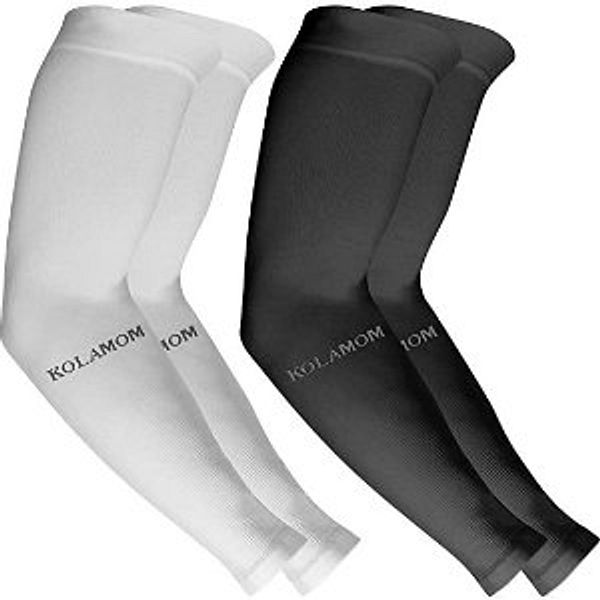 UV Protection Compression Sleeves for Men Women Sun Sleeves UV Protection Arm Sleeve,2 pairs