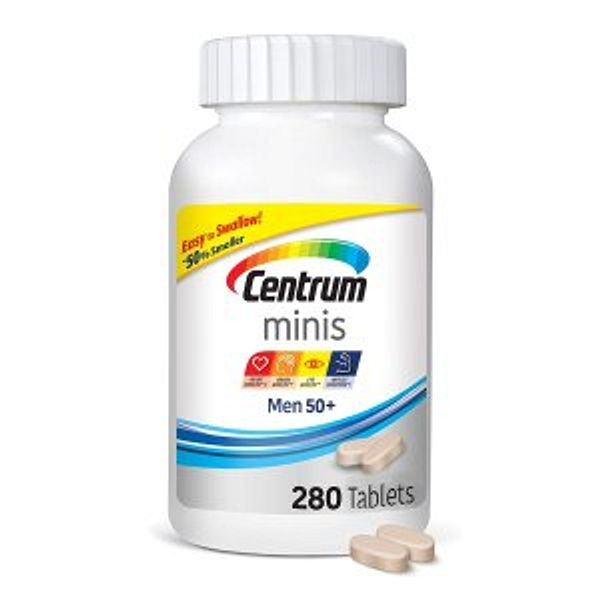 Centrum Minis Men 50+ (280 Count) Multivitamin/Multimineral Supplement Tablets