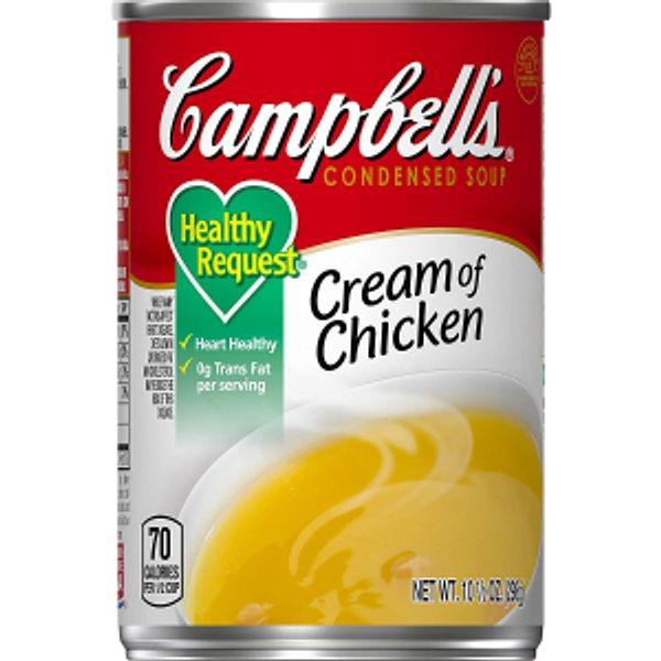 Campbell's Condensed Cream of Chicken Soup, 10.5 oz. Can (Pack of 12)