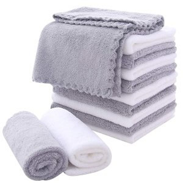 MoonQueen Microfiber Facial Cloths Fast Drying Washcloth 12 pack
