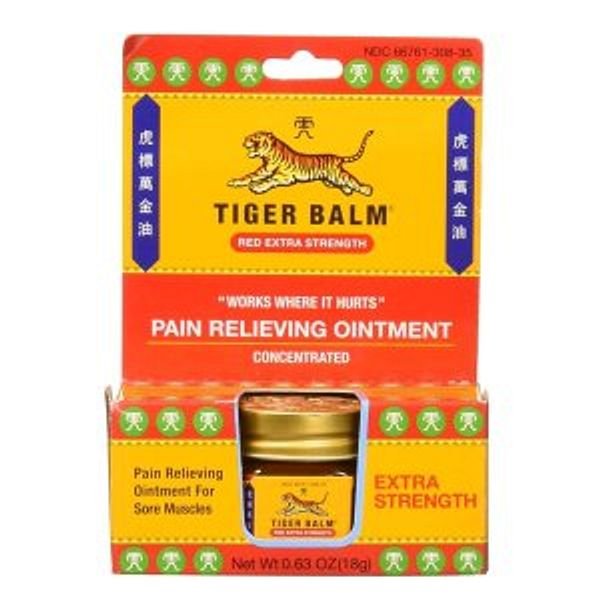 Tiger Balm Pain Relieving Red Extra Strength, 18g