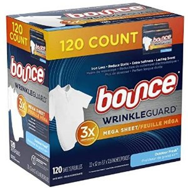 Bounce WrinkleGuard Mega Dryer Sheets, 12 counts