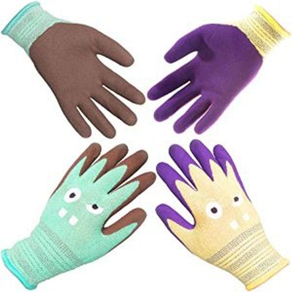 COOLJOB 2 Pairs Kids Gardening Gloves
