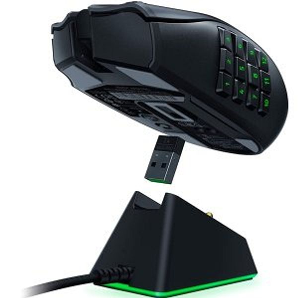 Razer Naga Pro Gaming Mouse + Mouse Charging Dock Chroma Gaming Mouse Bundle
