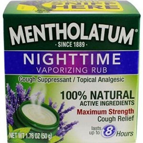 Mentholatum Nighttime Vaporizing Rub with soothing Lavender essence, 1.76 oz. (50 g)
