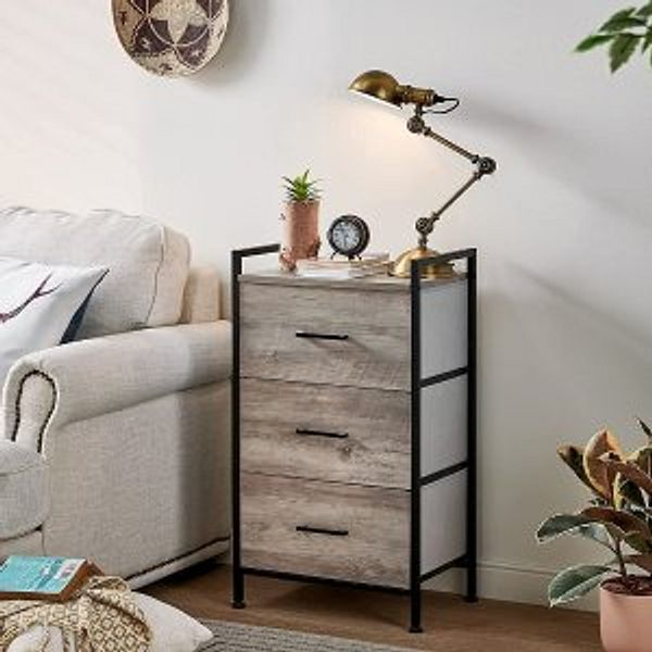 Linsy Home 3 Drawer Dresser Wide Chest