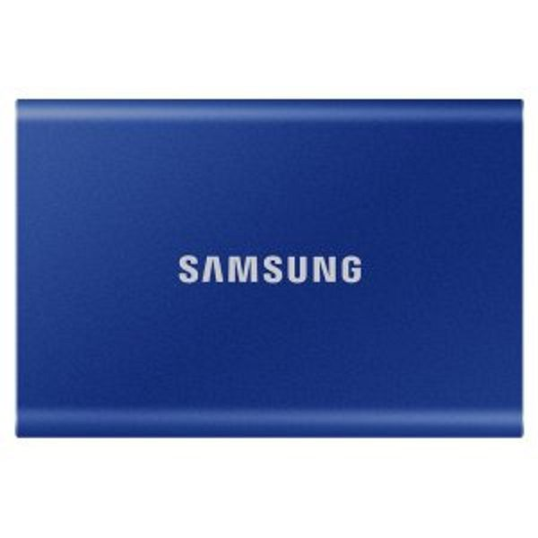 500GB Samsung T7 USB 3.2 Portable Solid State Drive (Blue)