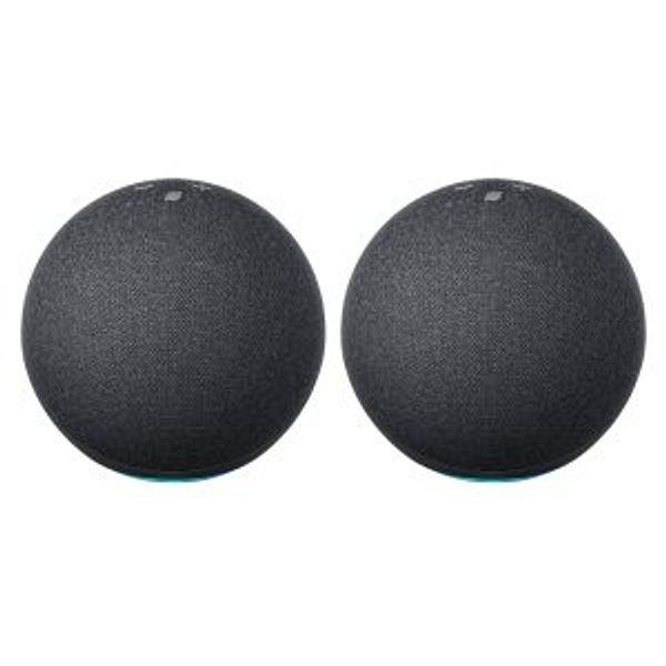 2-Pack Amazon Echo 4th Gen w/ Premium Sound Speaker