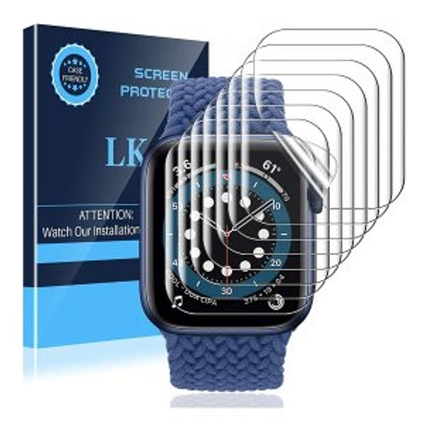 LK 8 Pack Screen Protector Compatible with Apple Watch Series 6 SE Series 5 44MM