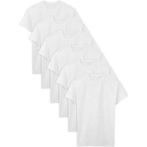 Fruit of the Loom Men's Stay Tucked Crew T-Shirt 6 Pack