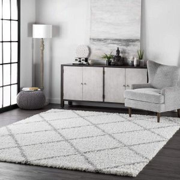 nuLOOM Tess Cozy Soft & Plush Modern Area Rug, 4' x 6', White