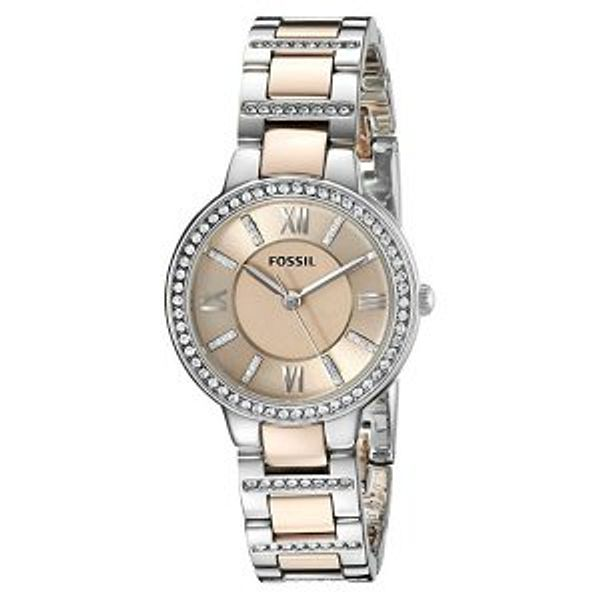 Fossil Women's Virginia Crystal-Accented Dress Watch