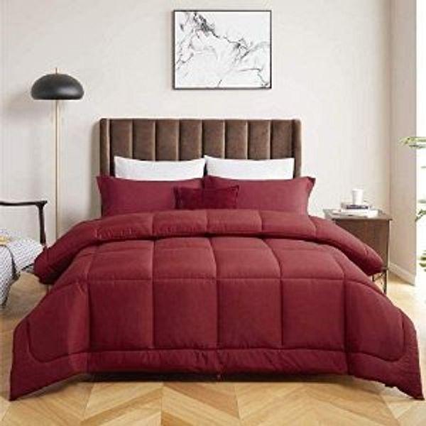Bedsure Duvet Insert Queen Comforter Burgundy