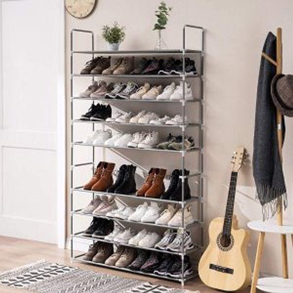 TECHMILLY 10 Tiers Shoe Rack Storage Organizer