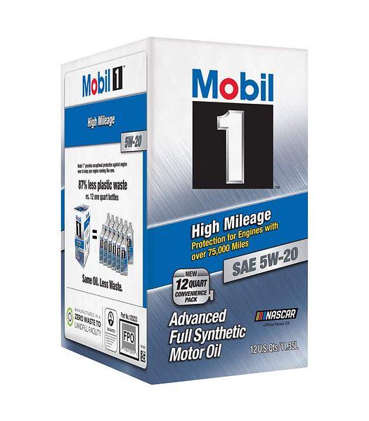 Walmart Mobil 1 High-Mileage 5W-20 Advanced Full-Synthetic Motor Oil, 12QT