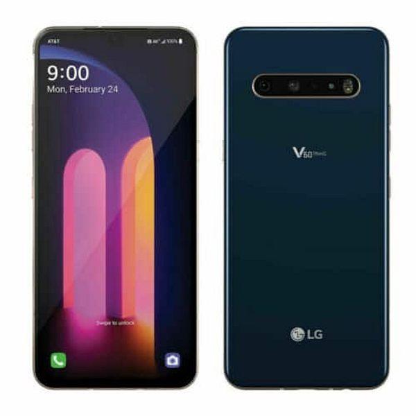 128GB LG V60 ThinQ 5G LM-V600AM GSM Unlocked Smartphone (Classy Blue)
