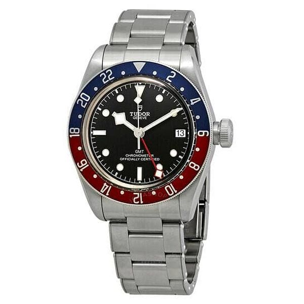TUDOR Black Bay Automatic Black Dial Men's GMT Pepsi Bezel Watch 79830RB-0001 for $3650 + Free Shipping