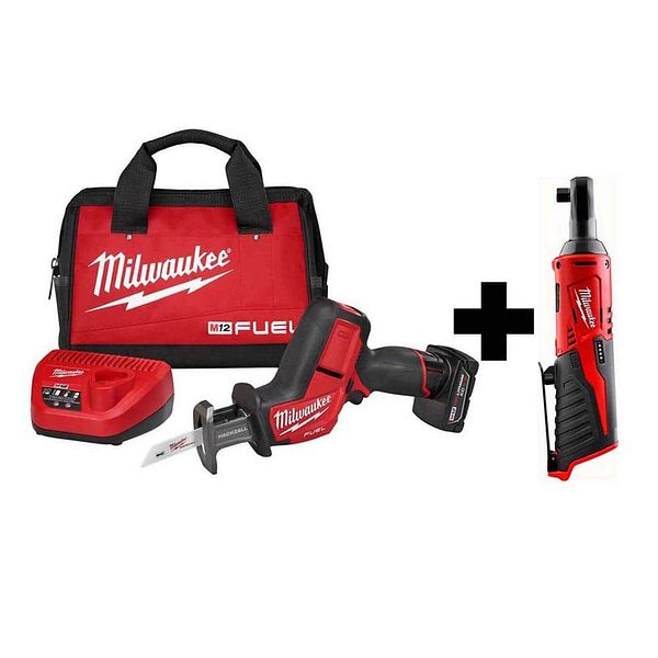 """Milwaukee M12 FUEL Hackzall + M12 3/8"""" Ratchet - $175 at Home Depot"""