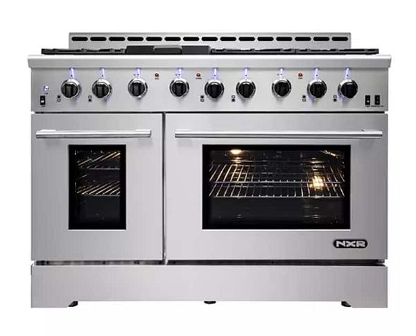 """Sam's Club Members: 48"""" NXR Stainless Steel Gas Range with LED lights $3500 + Free delivery"""
