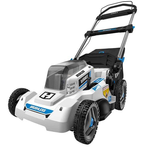 "20"" HART 40-Volt Cordless Brushless Push Mower Kit, (1) 5.0Ah Lithium-Ion Battery $258 + Free shipping"