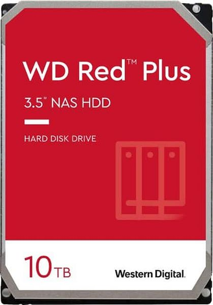 WD Red Plus 10TB NAS Hard Disk Drive 5400 RPM $200