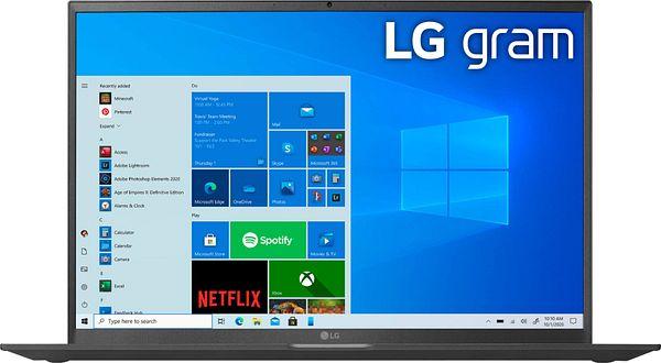 """LG gram 17"""" WQXGA Laptop – Intel Core i7 – 16GB RAM – 1TB NVMe Solid State Drive Black 17Z90P-K.AAB8U1 - Best Buy $1699"""