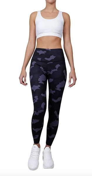 90 Degree by Reflex Lux Camo High-Waisted Ankle Leggings