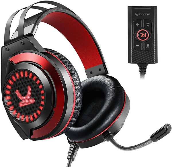 VANKYO CM7000 7.1 Surround Sound Gaming Headset w/ Noise Canceling Mic