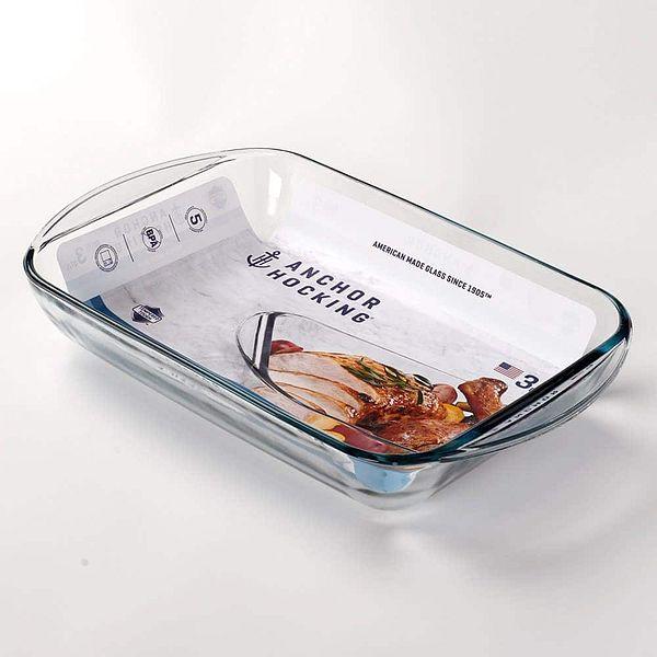 "Anchor Hocking 9""x 13"" Glass Pan Casserole Baking Dish"