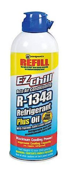 Interdynamics EZ Chill R-134a Refill with Oil and Leak Sealer 12 oz for $4.95 + Free Store Pickup