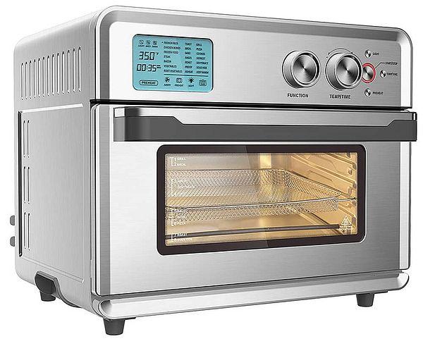 Emerald 25L 1800W Digital Air Fryer Oven (Silver)