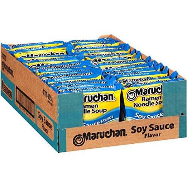 24-Pack 3oz. Maruchan Flavor Ramen Noodles (Soy Sauce)