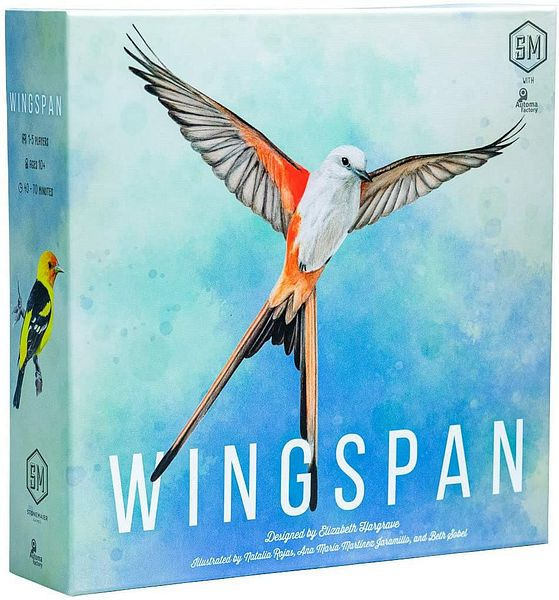Amazon.com: Wingspan Board Game - A Bird-Collection, Engine-Building Stonemaier Game for 1-5 Players, Ages 14+: Toys & Games $46.26