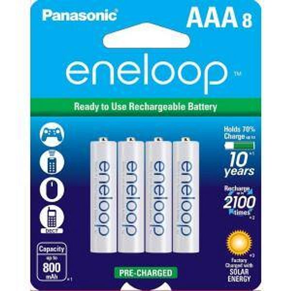 Back in Stock: $15.89 Eneloop Ni-MH AAA Rechargeable Batteries (8-Pack)