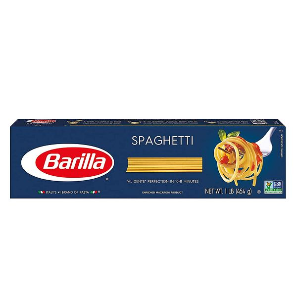 8-Pack 16-Oz Barilla Blue Box Spaghetti Pasta $7.45 ($0.93 each) w/ S&S + Free Shipping w/ Prime or on $25+
