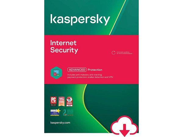 Kaspersky Internet Security 2021 3-Dev / 1Yr