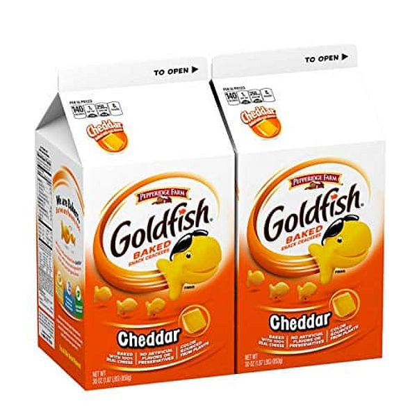 2-Count 30oz Pepperidge Farm Goldfish Cheddar Crackers