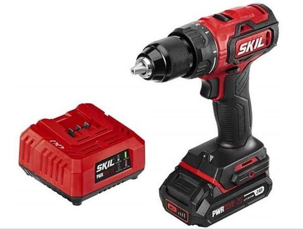 SKIL PWRCore 20 Brushless 20V 1/2 Inch Drill Driver, Includes 2.0Ah Lithium Battery and Standard Charger - DL529303 + Free shipping w/ Prime $69.99