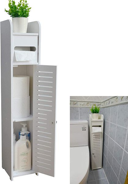 Aojezor Small Bathroom Storage Corner Vanity Cabinet