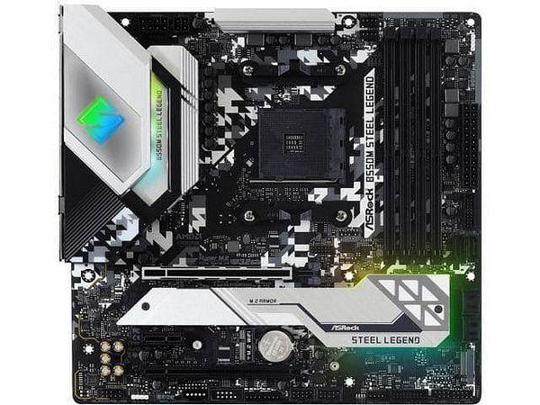 ASRock B550M STEEL LEGEND [AM4 AMD B550 SATA 6Gb/s] Micro ATX AMD Motherboard
