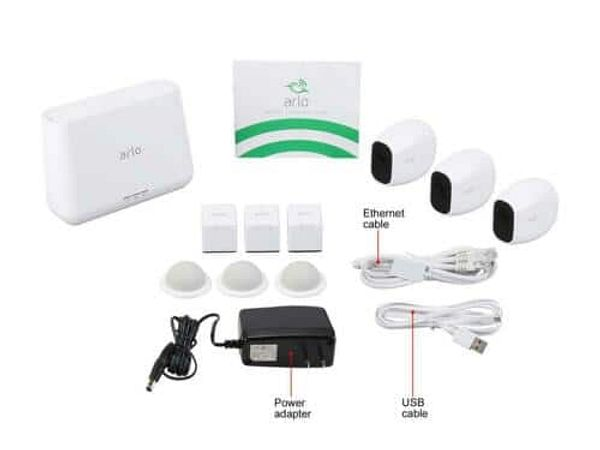 Arlo Pro 2 Wireless Security Camera System - 3 Rechargeable Battery Powered $299