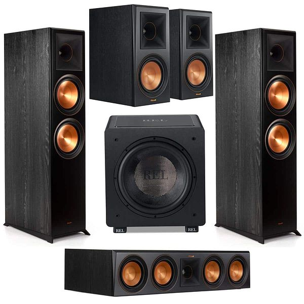 Klipsch Ref. Prem. Speakers: 2x RP-8000F + 2x RP-600M + RP-504C + Rel HT/1205 Sub