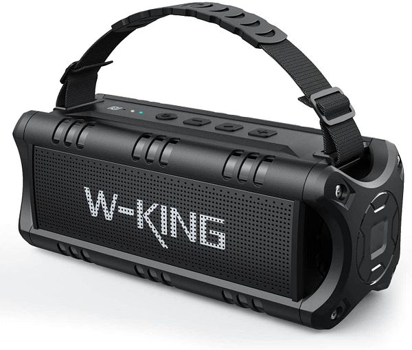Bluetooth Speaker, W-KING 30W TWS Portable Wireless Speakers, 24 Hours Playtime with Powerful Bass, DSP, NFC, TF Card, USB Playback, Bluetooth V5.0 Built-in Mic, AUX, Wat - $19.99