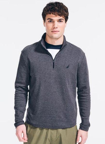 "Nautica: 90"" x 66"" Flagstone Plush Twin Blanket (grey) $14.66, Men's Slim Fit 100% Cotton Quarter Zip Pullover Sweater (various) $14.43 + Free Shipping"