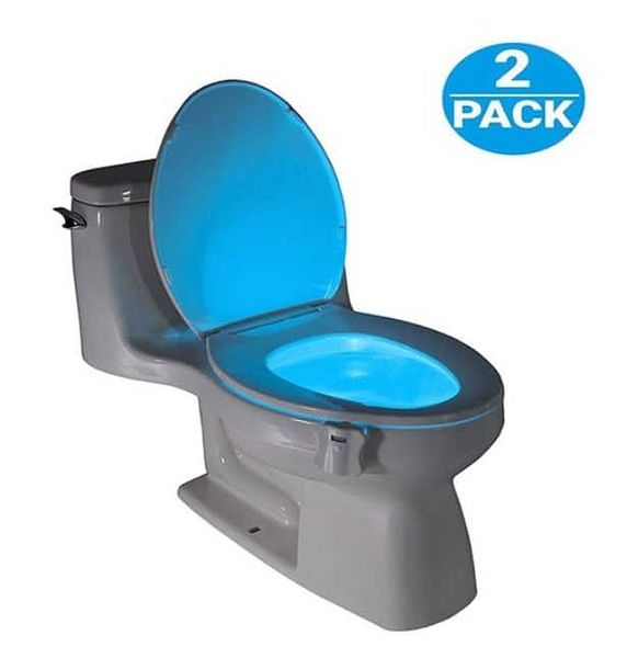 2Pack (8-Color) Led Motion Activated Toilet Seat Night Light w/ Two Mode Motion Sensor- $12.99 w/ free shipping