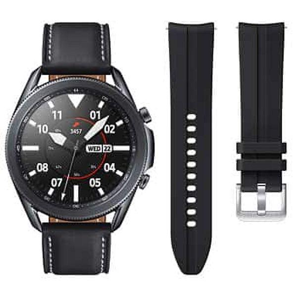 Samsung Galaxy Watch3 45mm LTE Smartwatch - Mystic Black - Bonus Band Included - $269.99