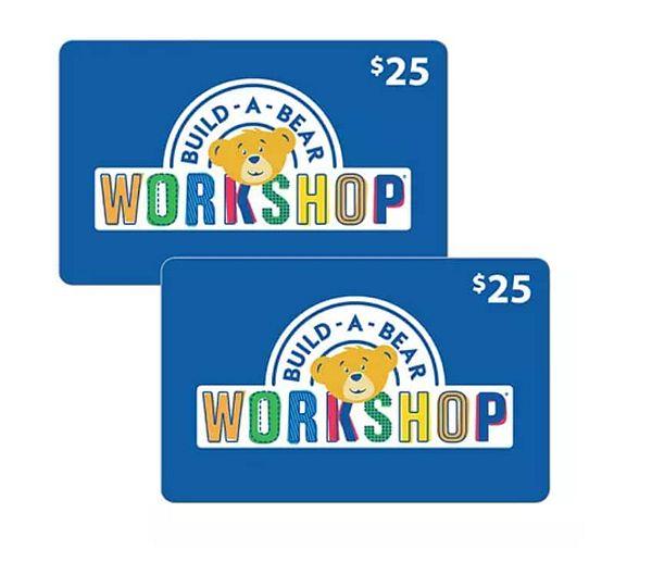 Sam's Club Members: $50 Build-A-Bear gift card $37.50 or $100 Build-A-Bear $71 + Free shipping