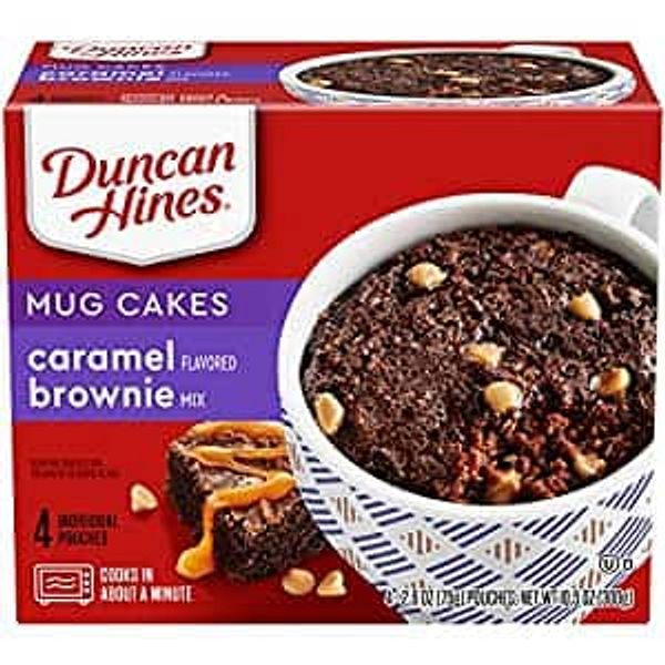 4-Count 2.6-Oz Duncan Hines Mug Cakes (Caramel Flavored Brownie Mix)