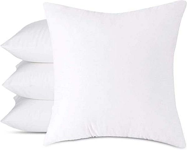 4-Pack 18 x 18 Inches Throw Pillow Inserts