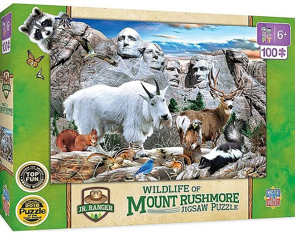 MasterPieces 100 Pc Wildlife of Mount Rushmore Jigsaw Puzzle